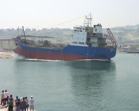 Launching of ship